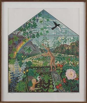 Figurscen I Växthus by Mona HUSS WALLIN