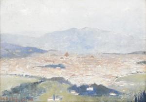 Vy över Florens by Helene SCHJERFBECK