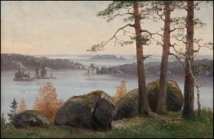 Sjölandskap by Ellen FAVORIN