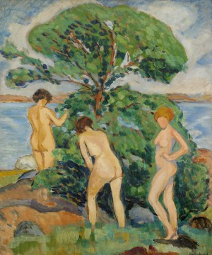 Solbadande Kvinnor - Utö by Edward HALD