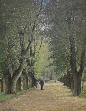 Promenad I Parken by Otto HESSELBOM