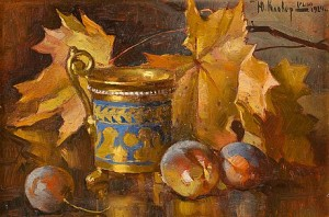 Still Life With Plums And Jug by Julij Julevic The Younger KLEVER
