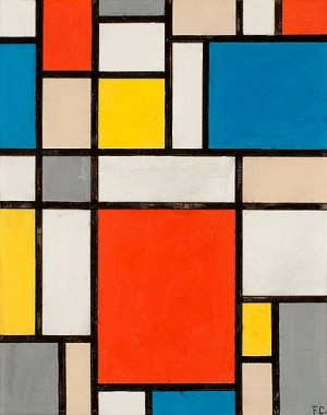 Contre-composition (composition Neoplasticiste) / (hommage A Mondrian) by Franciska CLAUSEN