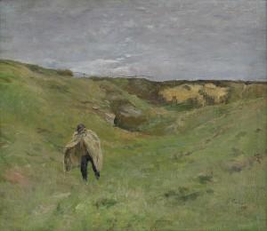 Vandrande Man I Landskap by Georg PAULI