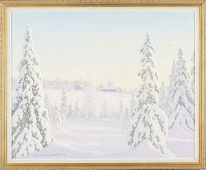 Gård I Vinterskrud by Eric RHÖNNSTAD