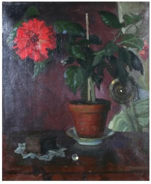 Röd Hibiskus by Oscar KEEN