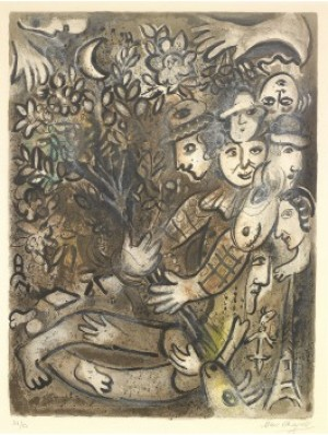 La Famille D'arlequin by Marc CHAGALL