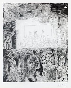 Ecce Homo', D'après Rembrandt by Pablo PICASSO