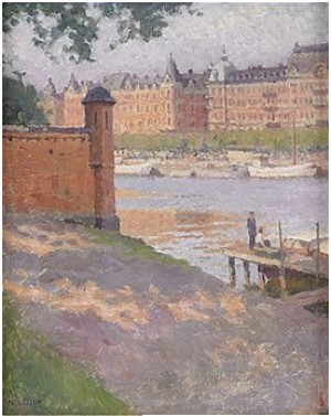 Utsikt Mot Strandvägen by Bernhard OSCARSSON