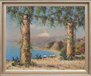 Sicilien Taormina by Carl Christian BOWEDT