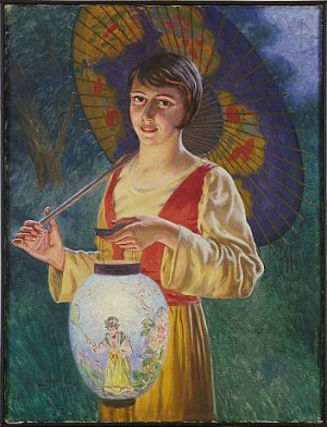 Kvinna Med Parasoll by Emil LINDGREN