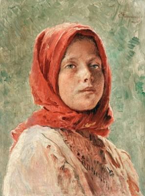 A Peasant Girl by Konstantin Egorovich MAKOVSKY