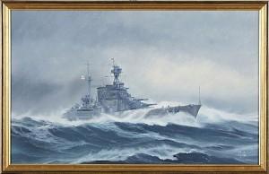 Fartygsporträtt Av Brittiska Jagaren