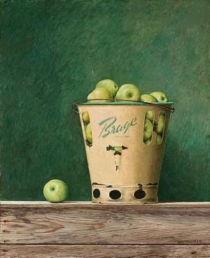 Stilleben Med äpplen I Brage Hink by Philip Von SCHANTZ