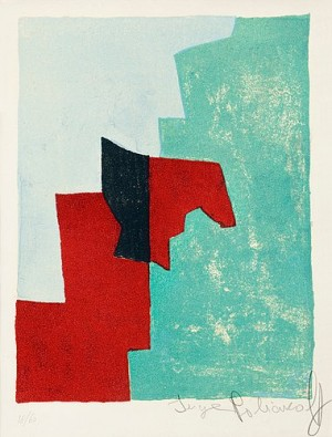 Composition Rouge, Verte Et Bleue by Serge POLIAKOFF