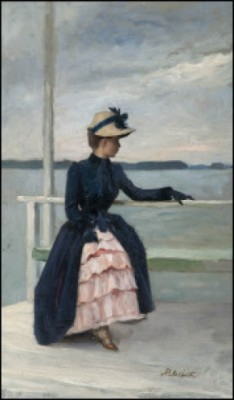 Annie Edelfelt Haikon Laiturilla by Albert EDELFELT