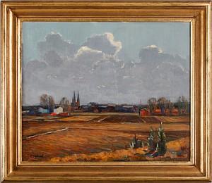 Uppsalaslätten Med Domkyrkotornen by Martin SÄFLUND