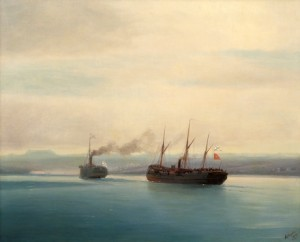 Capturing Of The Turkish Ship Mersina by Ivan Konstantinovich AIVAZOVSKY