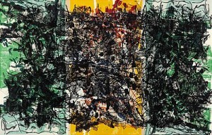 Triptyque Orange by Jean-Paul RIOPELLE