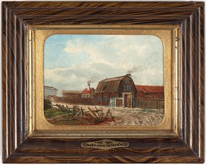 Spåkvinnan Arfvedsons Hus Vid V. Humlegårdsgatan by Wilhelm Alexander ROTHSTÉN