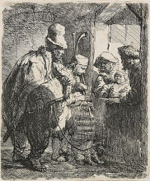 The Strolling Musicians by Rembrandt Harmenszoon Van RIJN