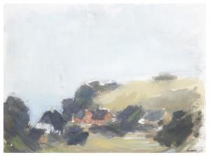 Kyrkbacken, Hven by Gustav RUDBERG