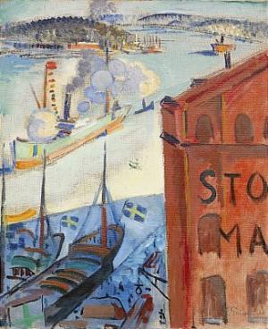 Utsikt Från Ateljén Mot Stadsgårdskajen - Stockholm by Isaac GRÜNEWALD