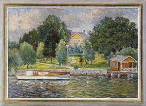 Kanalmotiv Från Djurgården - Stockholm by Anton GENBERG