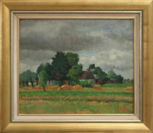 Landskap by Fritz KÄRFVE