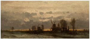 Aftenhimmel Over Vindmøllene by Ludwig MUNTHE