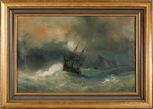 Segelfartyg I Sjönöd by Barthélemy LAUVERGNE