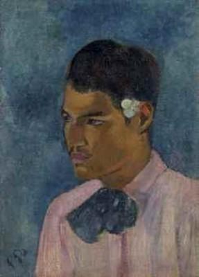 Jeune Homme à La Fleur by Paul GAUGUIN