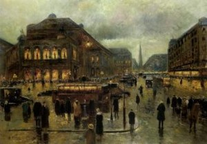 View Of Viennese Opera House by Rudolf PLESSNER