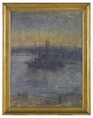 Vinterliggare - I Vinterhamn, Motiv Från Stockholm by Prins EUGEN