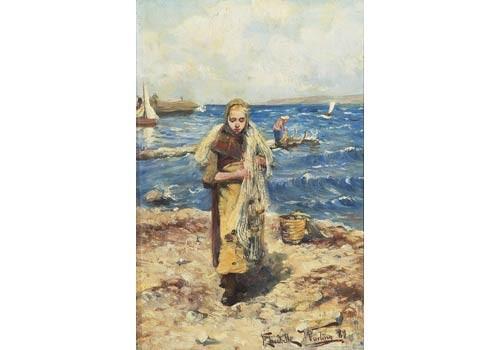 Fiskarflicka Bärande Nä by Elisabeth WARLING