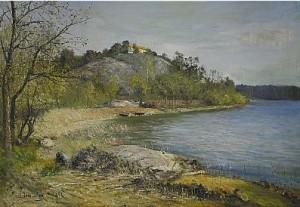 Utsikt över Värtan Mot Stocksund by Olof HERMELIN