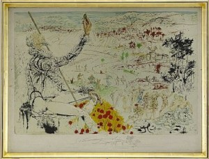 Don Quichotte De La Manche: The Golden Age by Salvador DALI