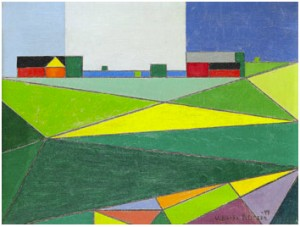 Landskap Med Byggnader by Vilhelm BJERKE-PETERSEN