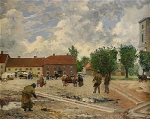 Folkliv På Torget I Hjo by Johan ERICSON