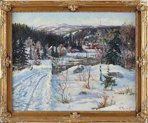 Fjällandskap I Vinter by Frans GARD