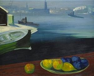 Vy Mot Stadshuset - Stockholm by Gustaf Adolf Engelbert 'Bertel' BERTEL-NORDSTRÖM