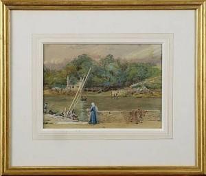 Flodlandskap by Frederick John SKILL