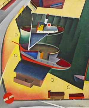 """Gamla Slussen"""" - Motiv Från Stockholm by Bo Von ZWEIGBERGK"""