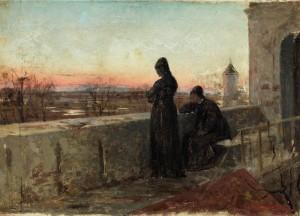 Sonnenuntergangsstimmung by Abram Efimovich ARKHIPOV