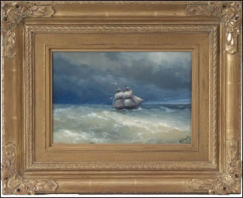 Coastal Scene With Stormy Waters by Ivan Konstantinovich AIVAZOVSKY