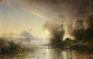 Insjölandskap I Soldis by Alfred WAHLBERG