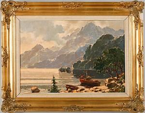 Bergslandskap Med Vattendrag by Jan Bohumil POSPISIL
