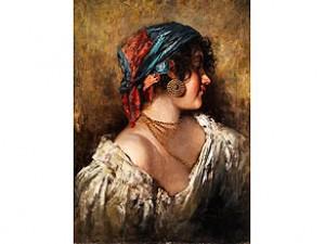 Portrait Eines Italienischen Mädchens by Giuseppe GIARDIELLO