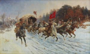 The Siberian Gold Convoy by Adolf Constantin The Elder BAUMGARTNER