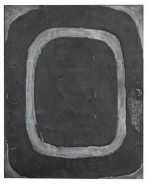 Oval Gris-marró (grey-brown Oval) by Antoni TAPIES